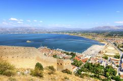 美丽的Nafplio,希腊 库存图片