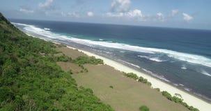 美丽的Nyang Nyang海滩鸟瞰图在巴厘岛 股票视频