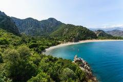 美丽的Olympos海滩在土耳其 免版税库存照片