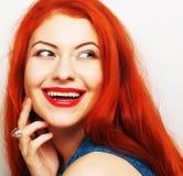 美丽的redhair妇女 免版税库存图片