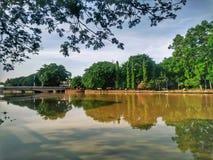 美丽的refelctions在Kampung Seberang霹雳州,亚罗士打,吉打 免版税库存图片