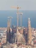 美丽的Sagrada Familia,巴塞罗那 免版税库存图片