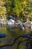 美丽的Sedona亚利桑那在一晴朗的秋天天 库存照片