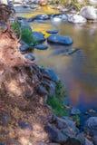 美丽的Sedona亚利桑那在一晴朗的秋天天 库存图片