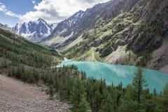 美丽的Shavlinsky湖 免版税库存照片