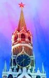 美丽的Spasskaya克里姆林宫塔 免版税图库摄影