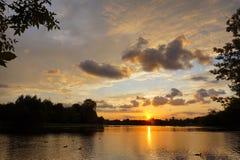 美丽的sunset2 免版税库存图片