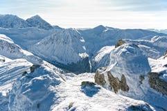 美丽的Tatra山在冬天。 库存照片