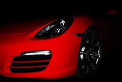 美丽红色sportcar 免版税库存图片