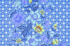 美丽蜡染布样式 库存图片