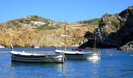 美丽镇静地中海在黎明 图库摄影