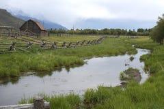 美丽风景在盛大Tetons 免版税库存照片