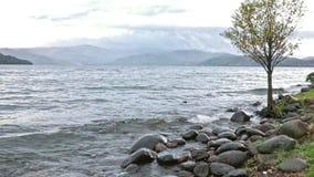 美丽风景湖toya北海道日本 股票录像
