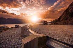美丽风景,看在湖wakatipu昆斯敦南isl外面 库存图片