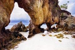 美丽风景khao talu payam海岛ranong安达曼海南部泰国 免版税库存照片