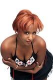 美丽,大乳房红头发人 免版税库存图片