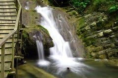 美丽,美丽如画的瀑布 库存照片