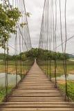 美丽索桥在Kaeng Krachan国家公园, Phetcha 免版税库存照片