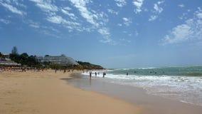 美丽algarve的海滩 库存照片