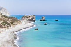 美之女神出生地塞浦路斯s 免版税库存照片