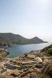 美之女神寺庙在Knidos, Datca, Mugla,土耳其 免版税图库摄影