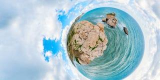 美之女神岩石,塞浦路斯 免版税图库摄影