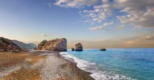 美之女神海湾  帕福斯,塞浦路斯 免版税库存图片