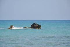 从美之女神海滩的看法  免版税库存照片