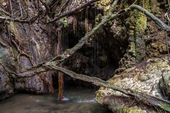 美之女神-塞浦路斯著名自然纪念碑浴  库存照片