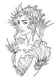 美人鱼公主的例证 免版税库存照片