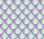 美人鱼尾巴称传染媒介无缝的样式 全息照相的明亮的鱼纹理 库存例证
