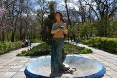 美人鱼是市区公园梅利托波尔的标志 库存图片