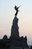 美人鱼纪念碑塔林 免版税库存照片