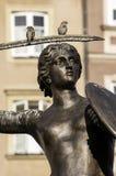 美人鱼雕象在华沙。 免版税库存照片