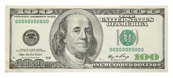 美元一百 免版税库存照片