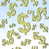 美元下雨 图库摄影