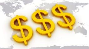 美元世界 免版税图库摄影