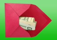 美元信包红色 免版税图库摄影