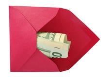 美元信包红色 库存图片