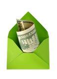 美元信包绿色 免版税库存图片