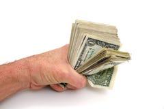 美元充分的拳头 库存照片