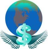 美元分布 免版税库存照片