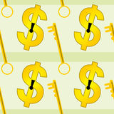 美元匙孔无缝的背景设计 免版税库存照片