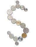 美元卢布 免版税库存图片
