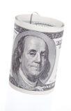 美元卷 库存图片