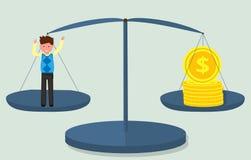 美元和人硬币的等级的 图库摄影