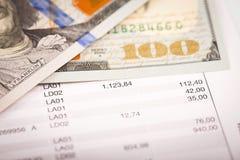 美元和贷款计划 免版税库存图片