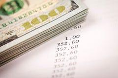 美元和贷款计划 库存照片