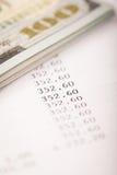 美元和贷款计划 免版税库存照片