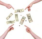 美元四现有量指向 免版税库存照片